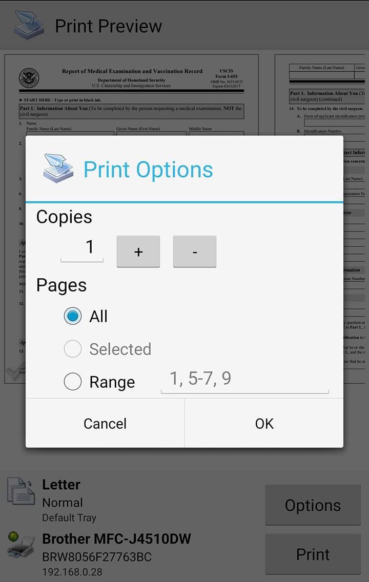 PrinterShare Mobile Print screen 4