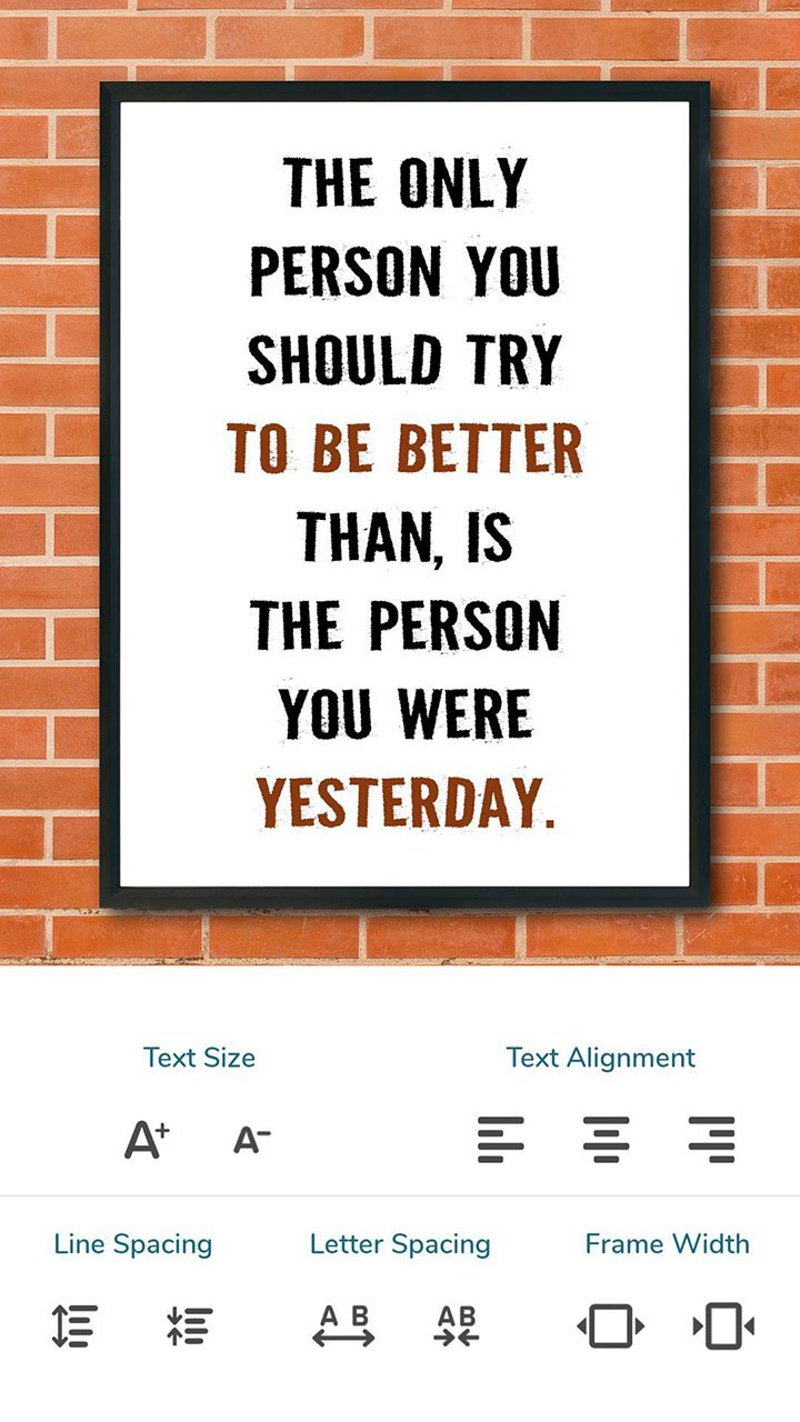 Quotes Creator screen 2