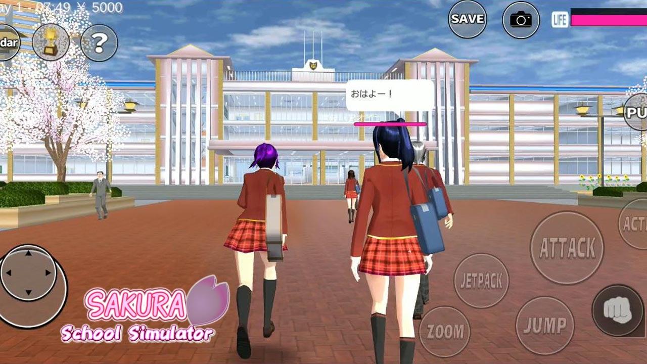 SAKURA School Simulator poster