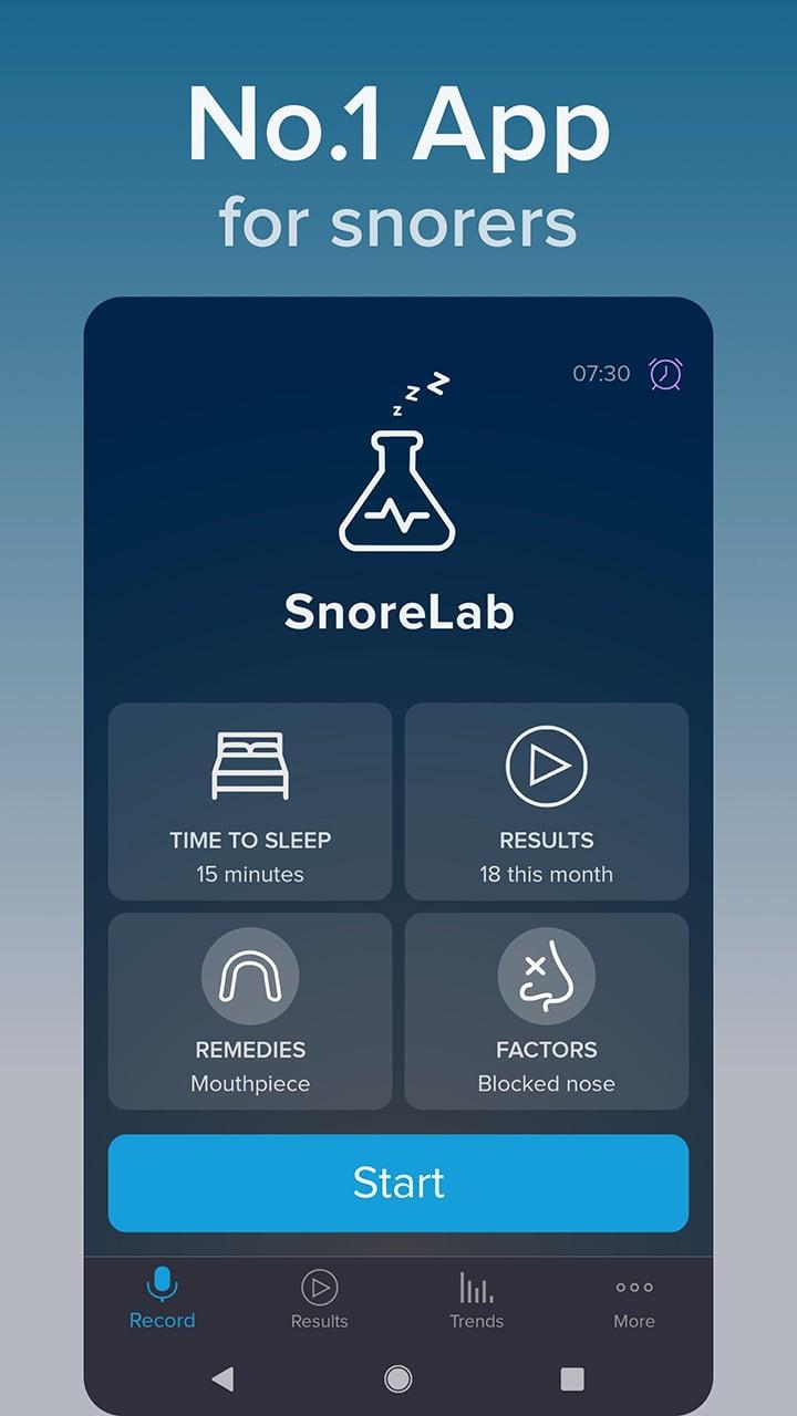 SnoreLab screen 2
