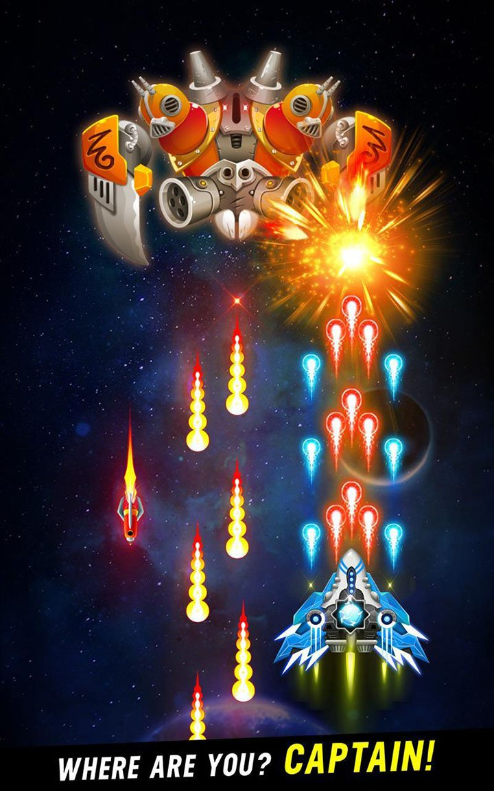 Space shooter screen 1