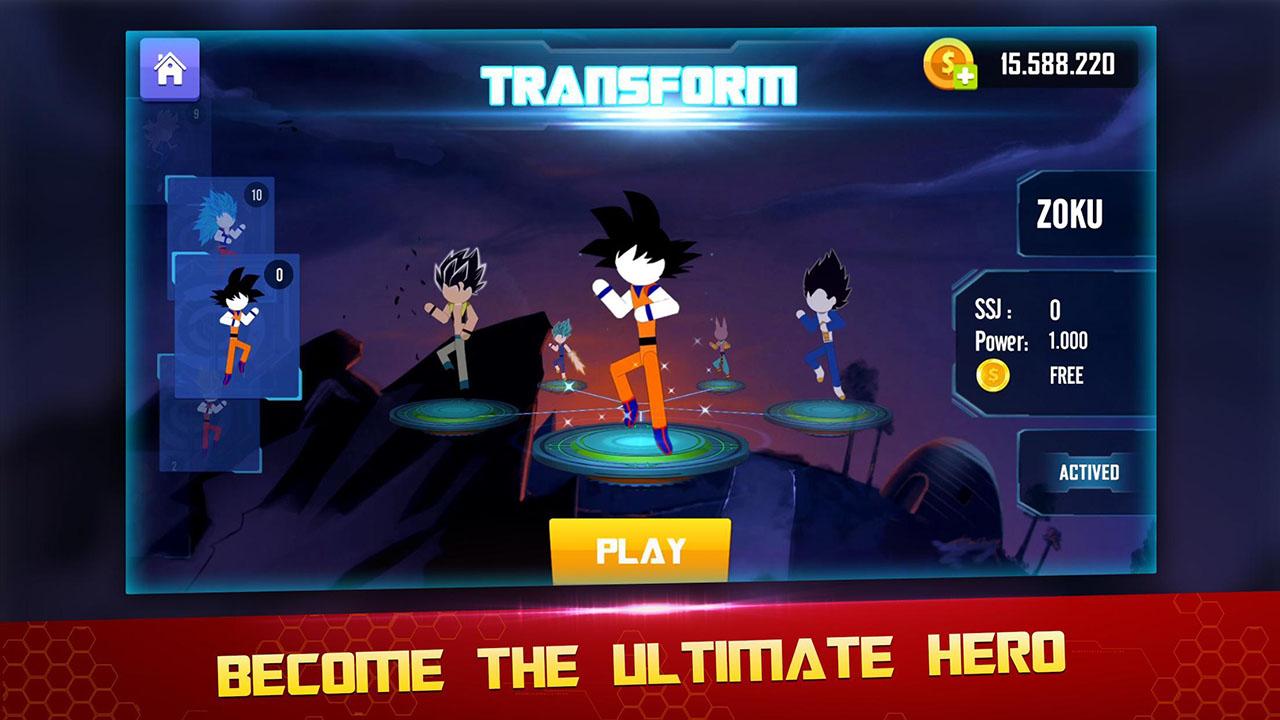 Stick Z Super Dragon Fight screen 0