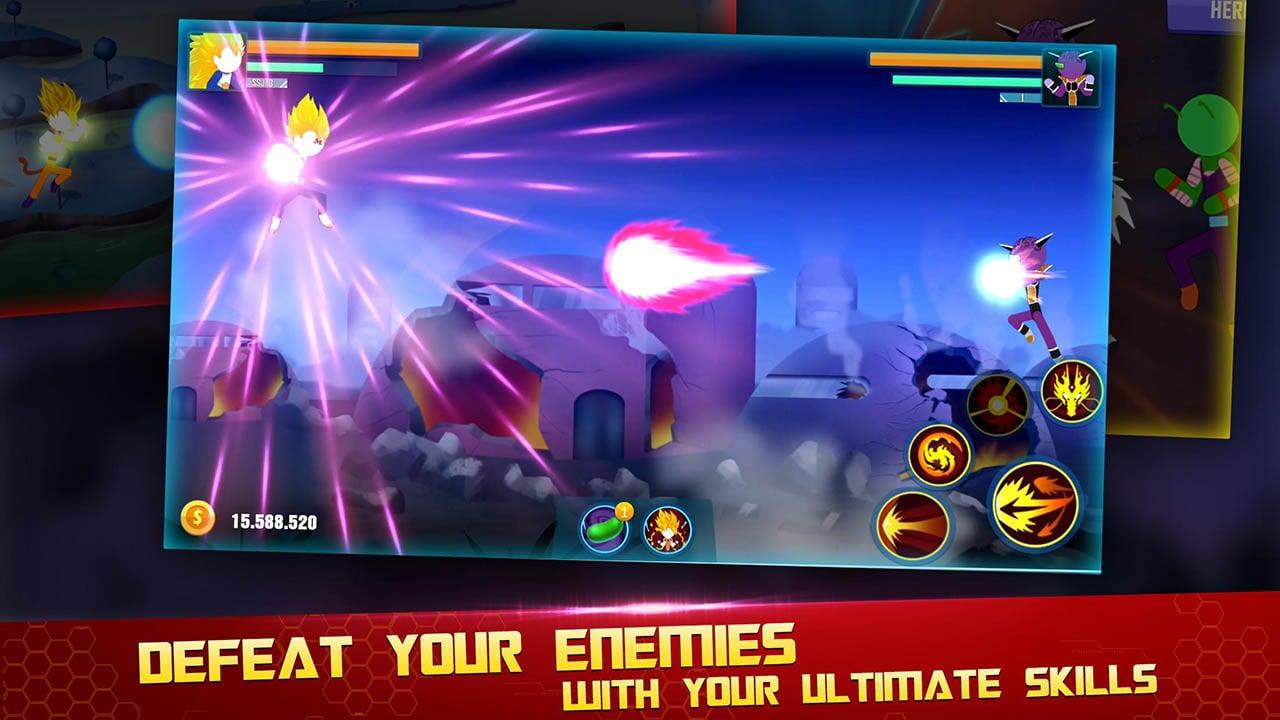 Stick Z Super Dragon Fight screen 2