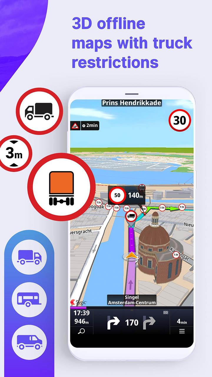 Sygic Truck GPS Navigation & Maps screen 1