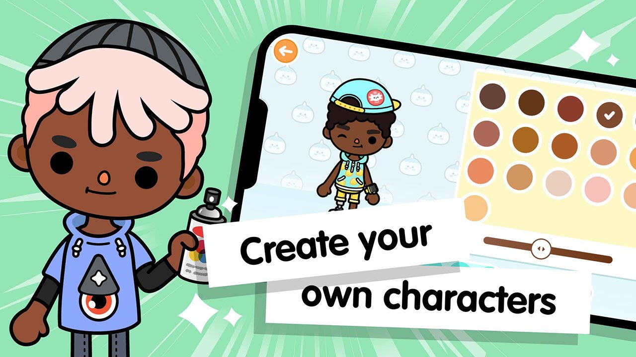 Toca Life World Build stories & create your world screen 1