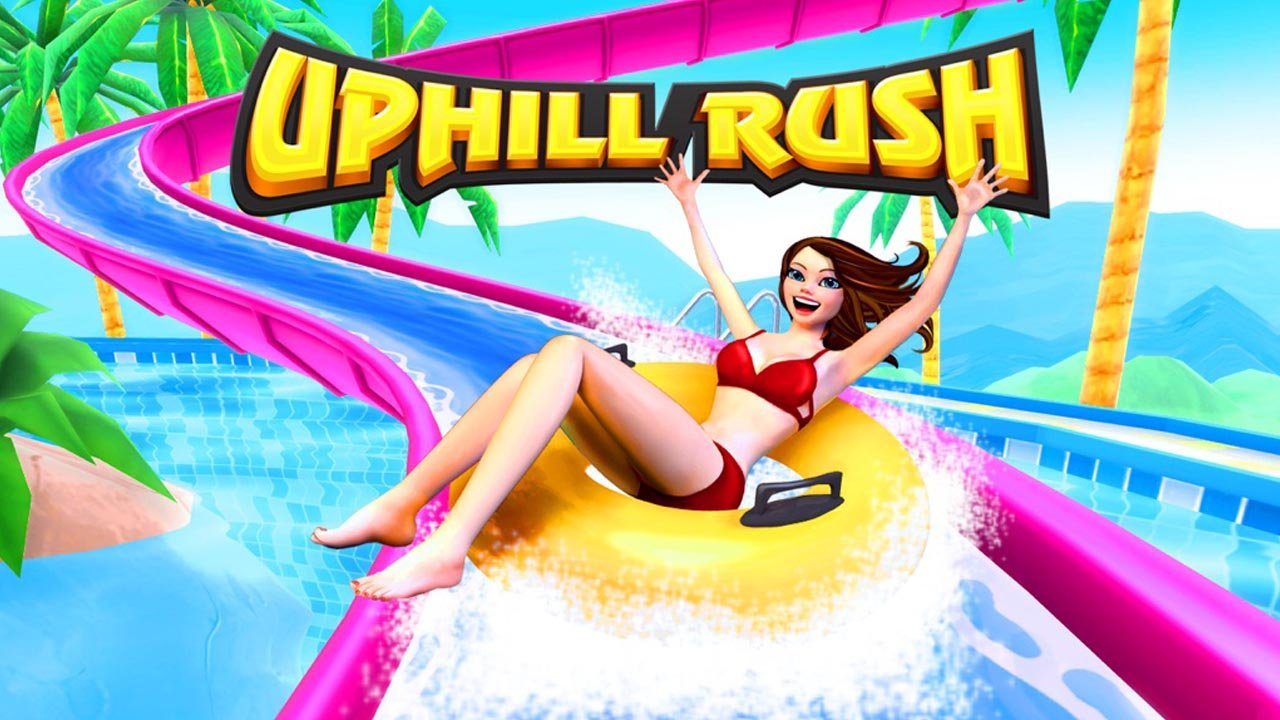 Uphill Rush Wate Park Racing poster