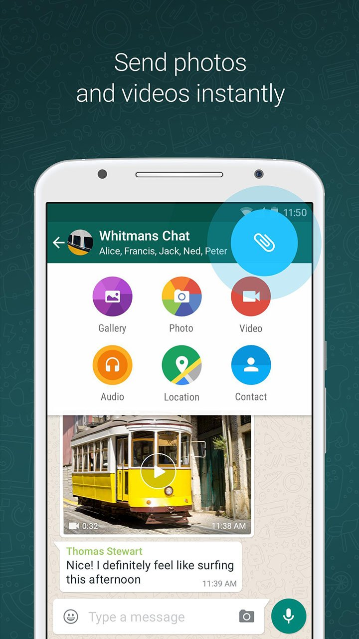 WhatsApp Messenger screen 1