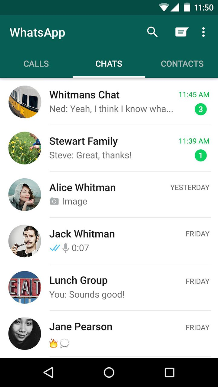WhatsApp Messenger screen 5
