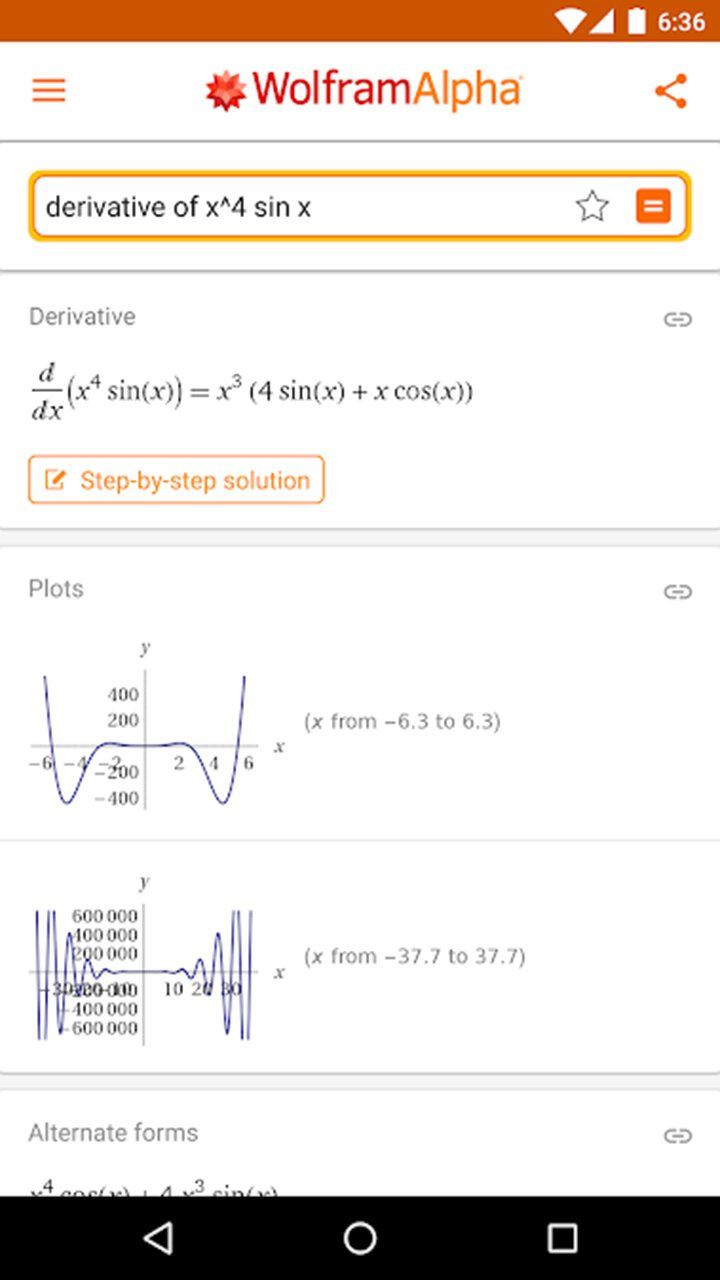 WolframAlpha screen 6