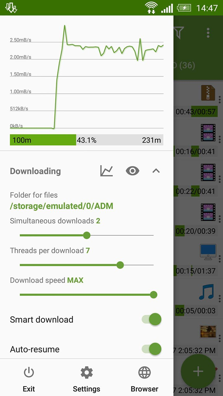 Advanced Download Manager screen 1