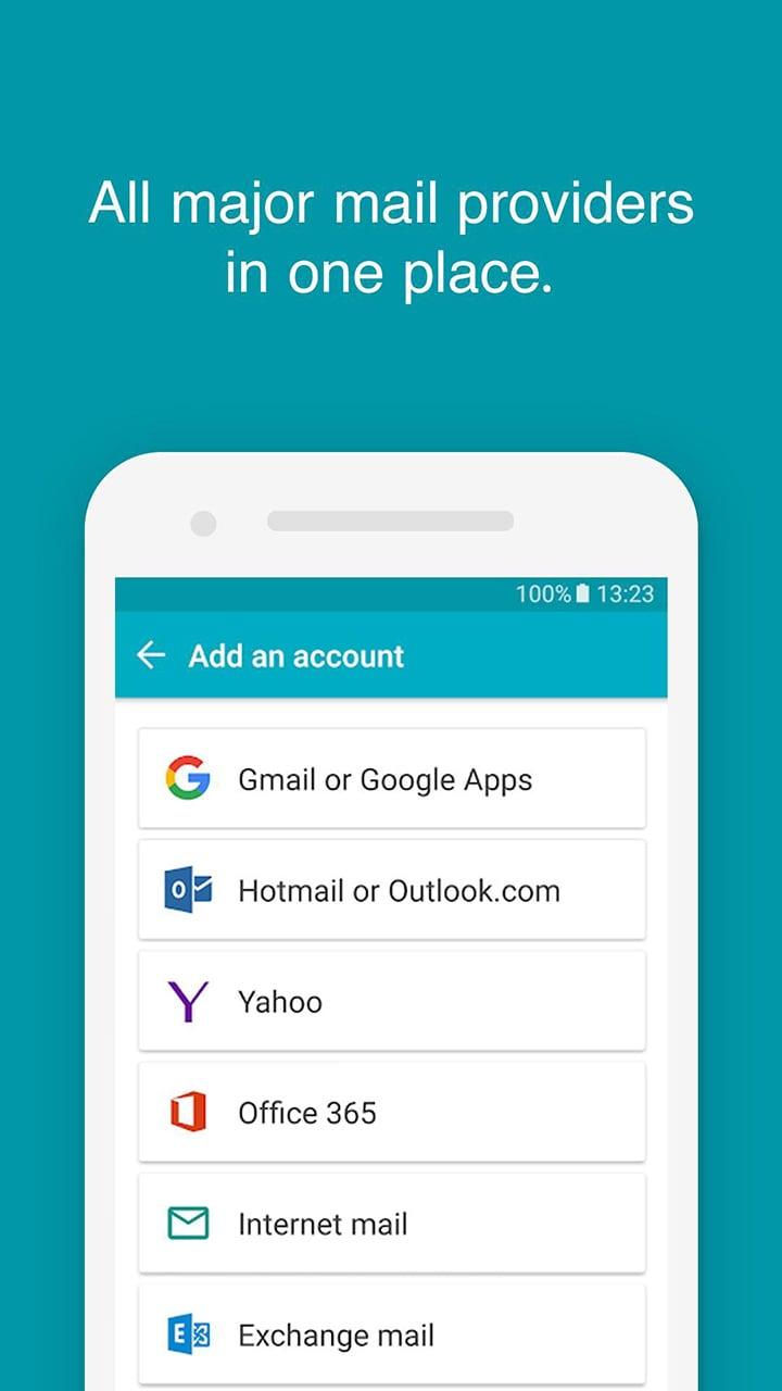 Aqua Mail screen 2