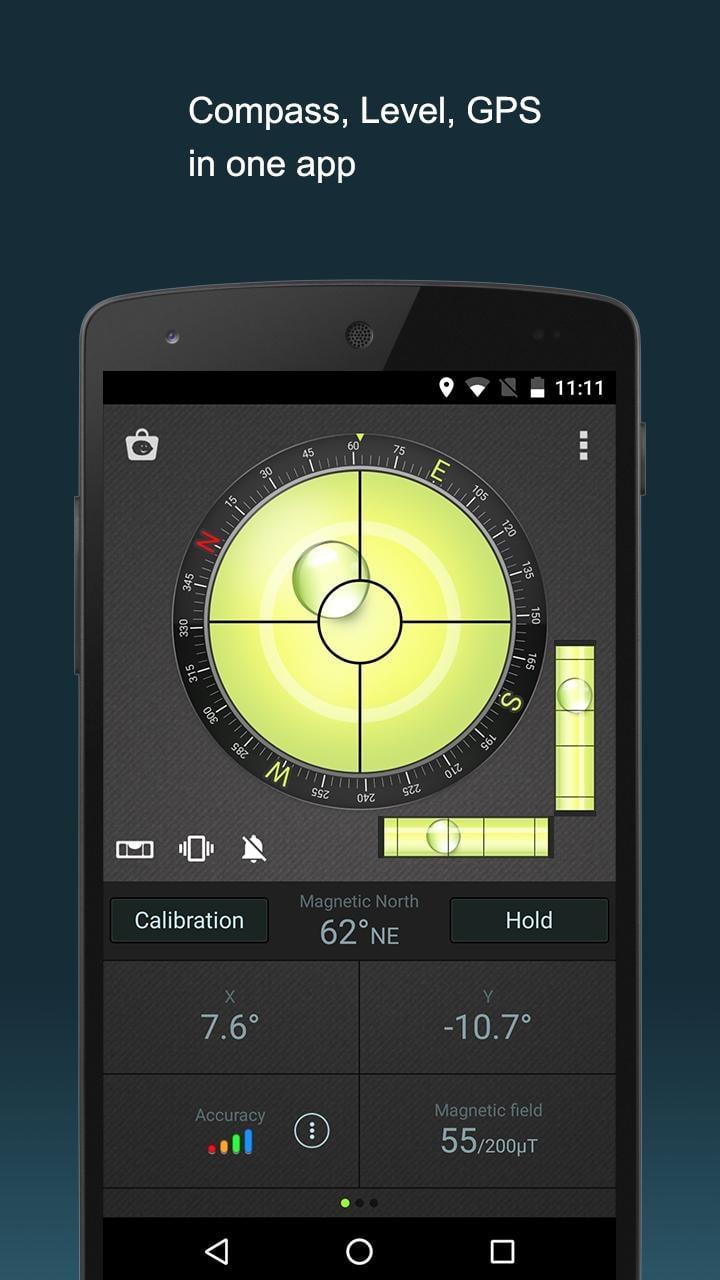 Compass Level & GPS screen 0