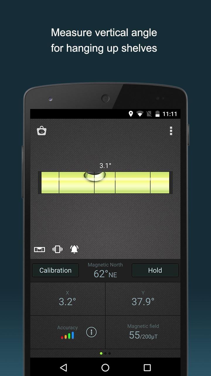 Compass Level & GPS screen 1