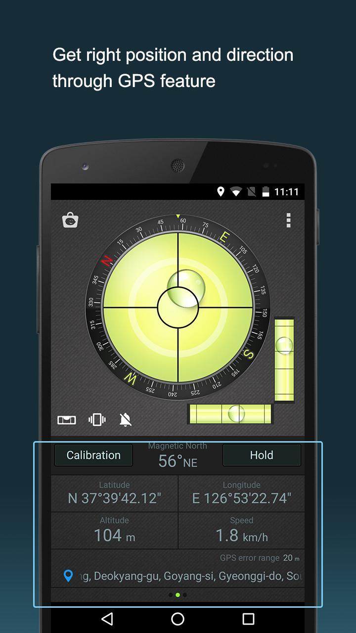 Compass Level & GPS screen 3