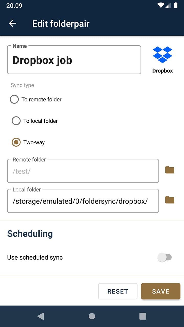 FolderSync Pro screen 4