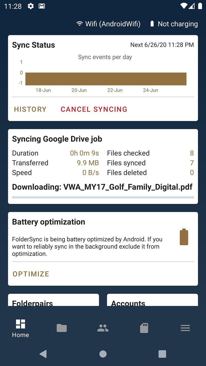 FolderSync Pro screen 5