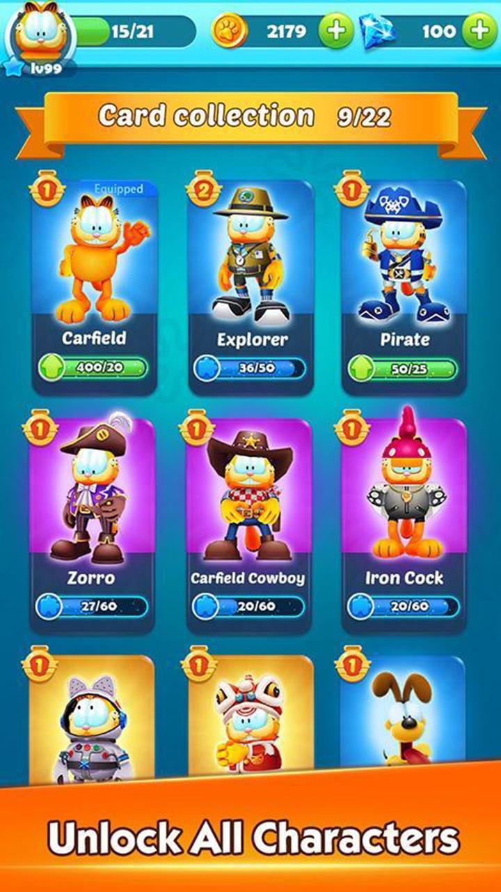 Garfield Rush screen 1