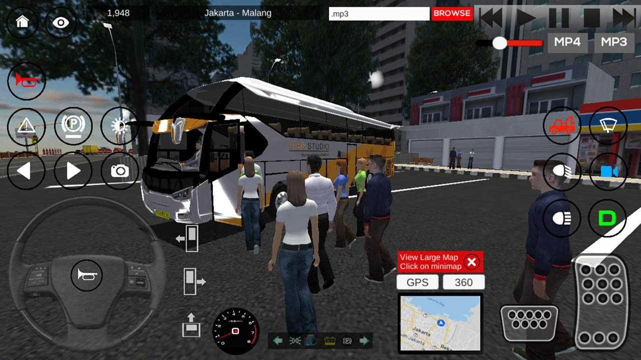 IDBS Bus Simulator screen 1