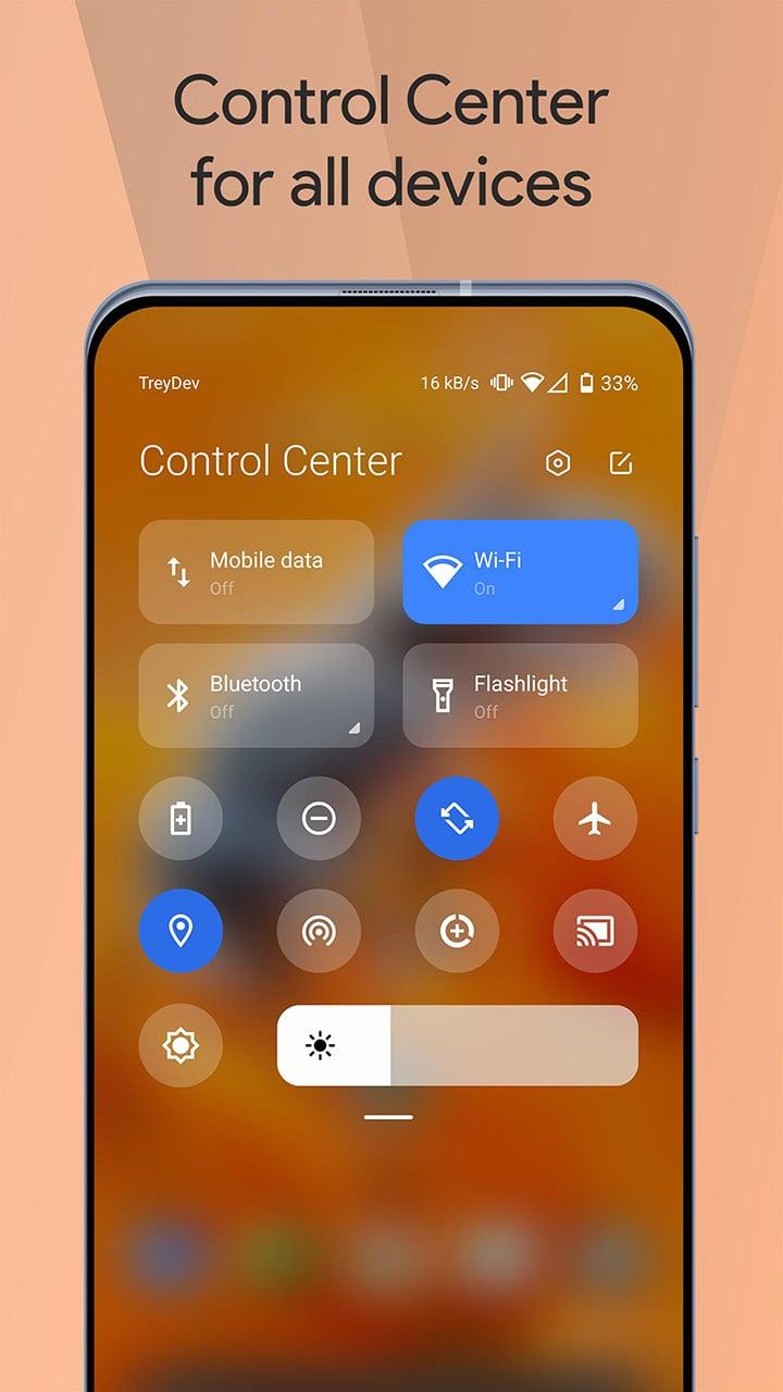 Mi Control Center screen 0