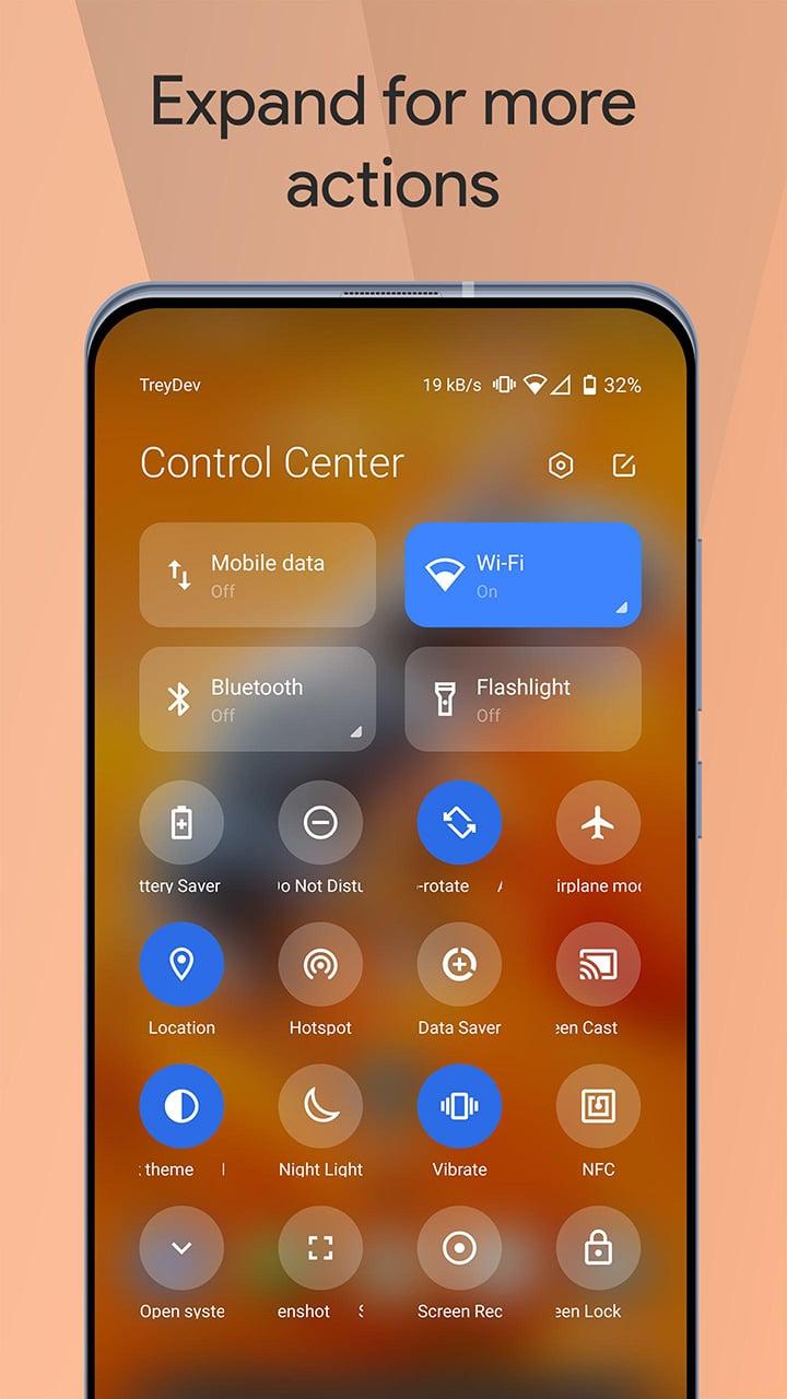 Mi Control Center screen 3