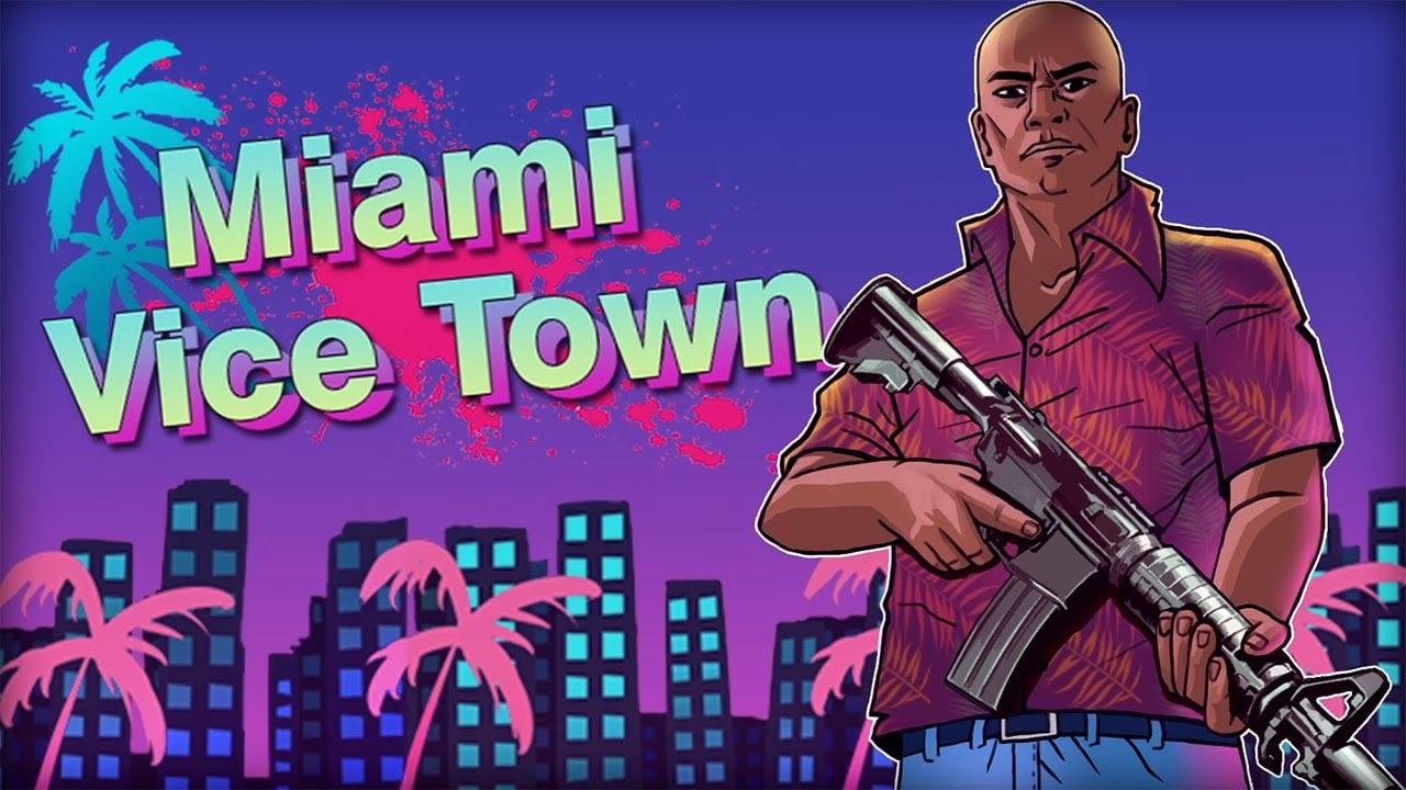 Miami Crime Vice Town poster