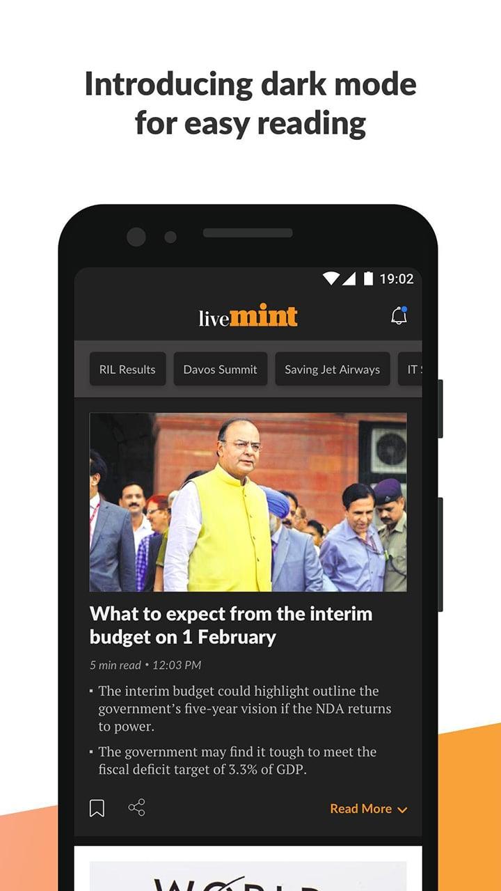 Mint Business News screen 2