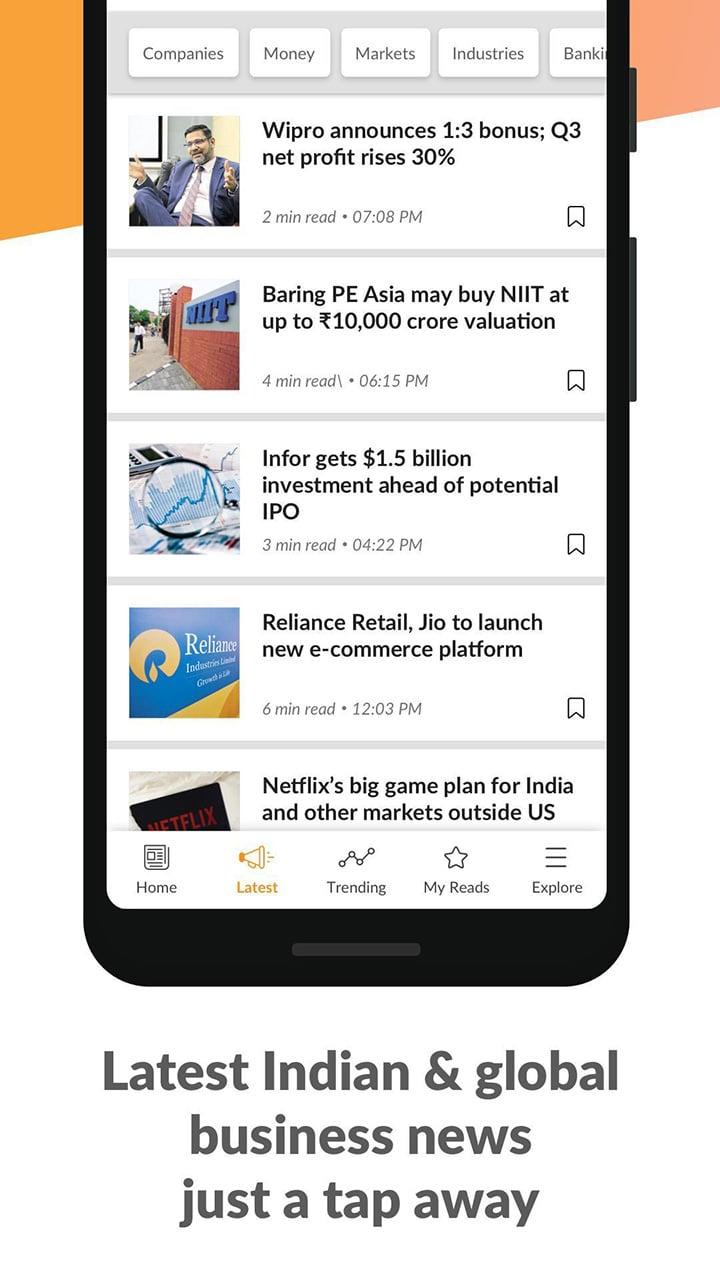 Mint Business News screen 3