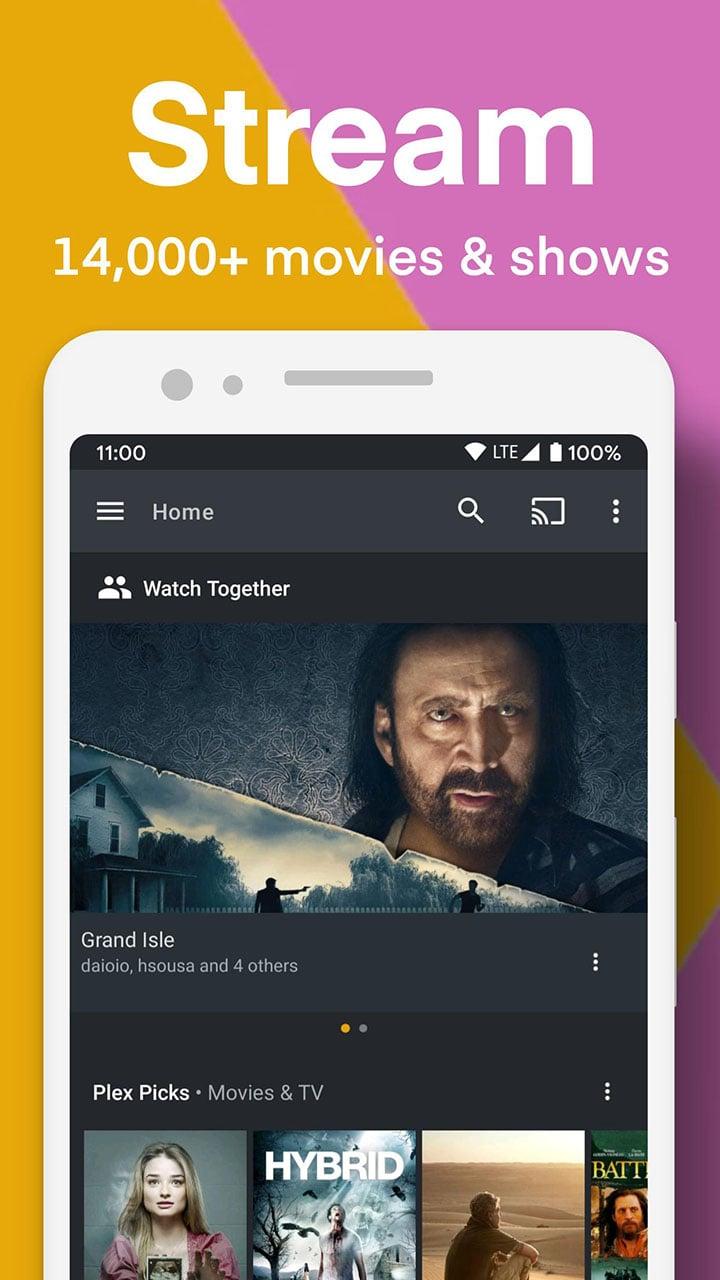Plex screen 0