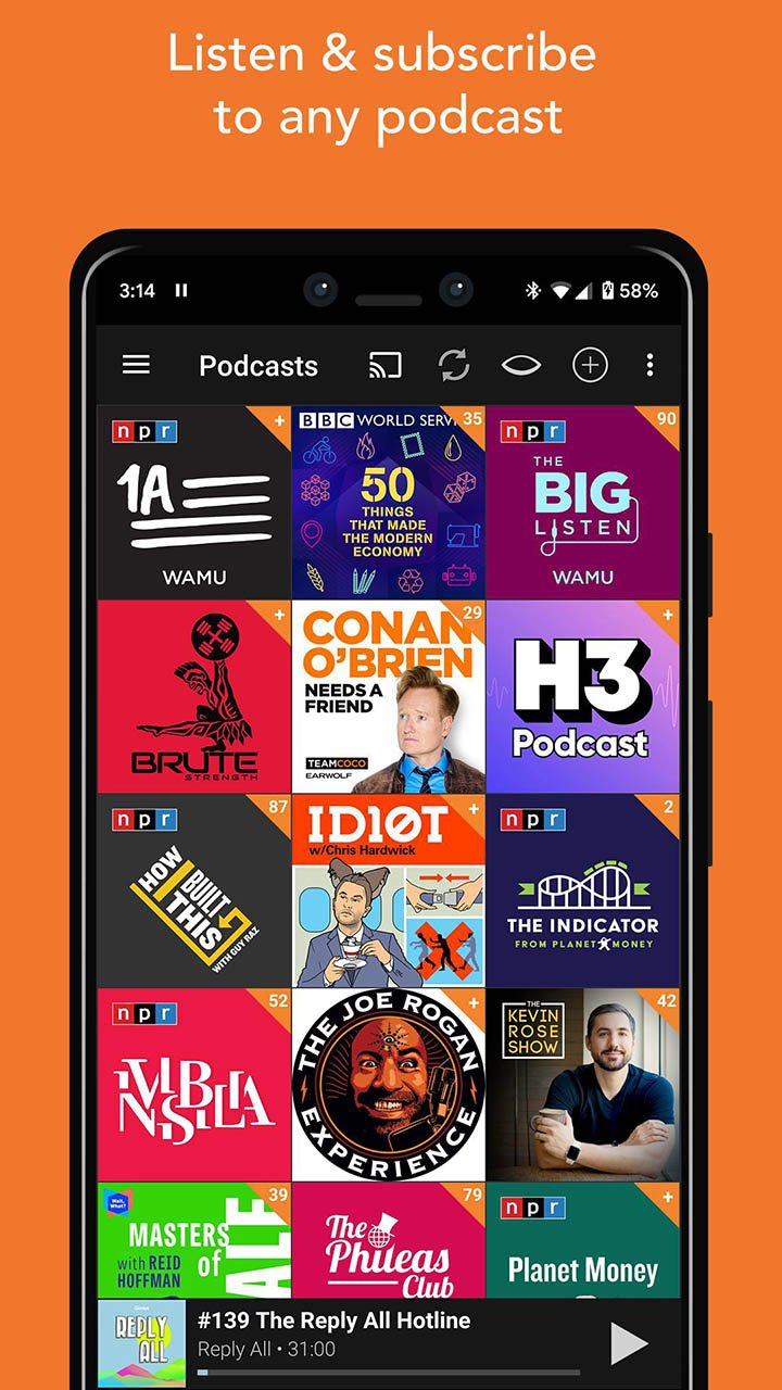 Podcast Addict screen 3