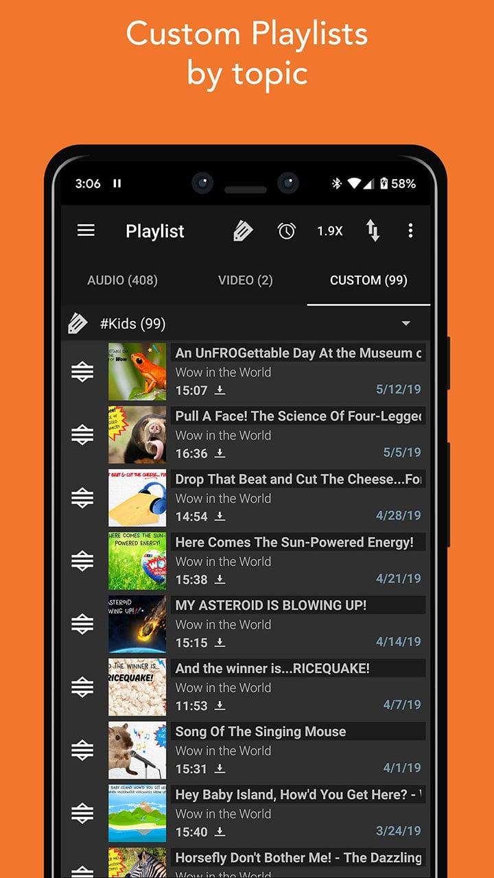 Podcast Addict screen 6