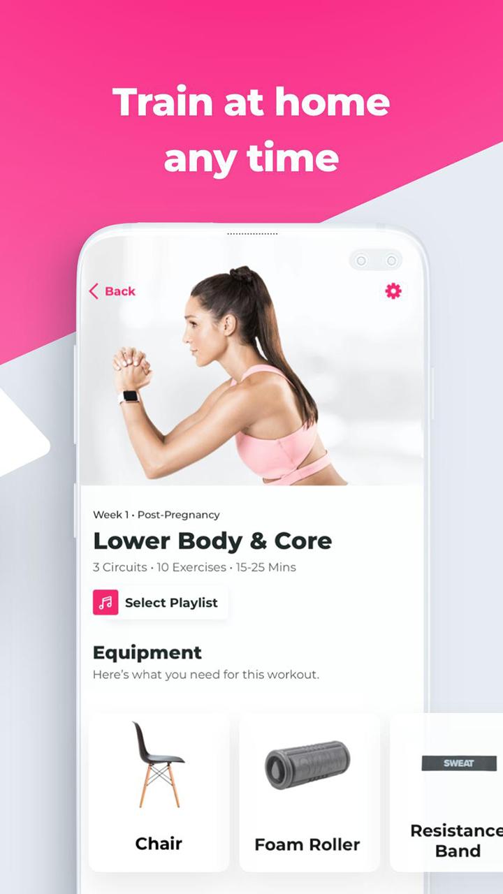 SWEAT Kayla Itsines Fitness screen 3