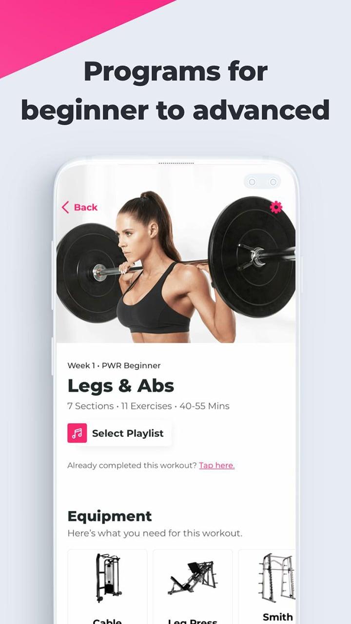 SWEAT Kayla Itsines Fitness screen 4