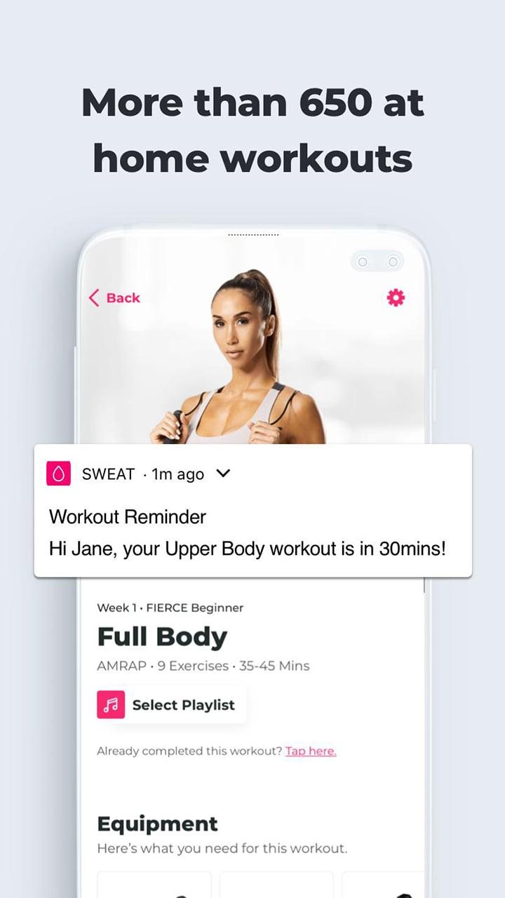 SWEAT Kayla Itsines Fitness screen 5