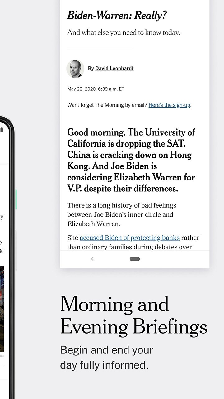 The New York Times screen 1
