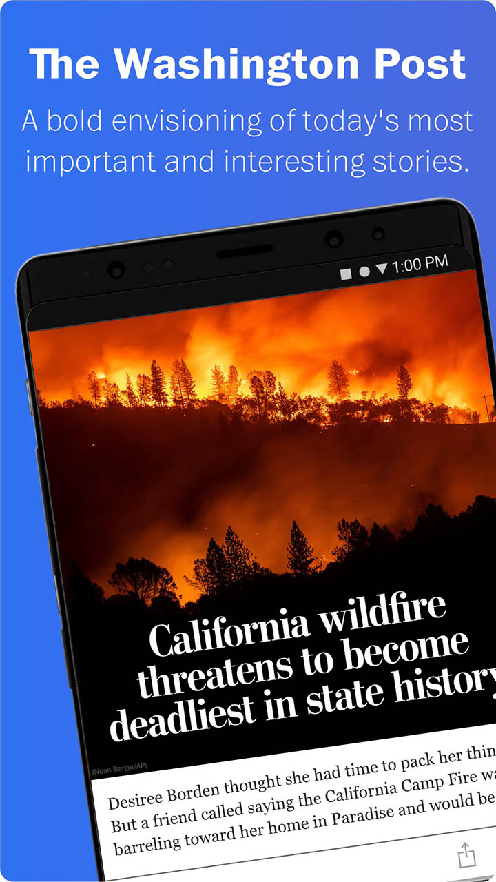 Washington Post Select screen 0