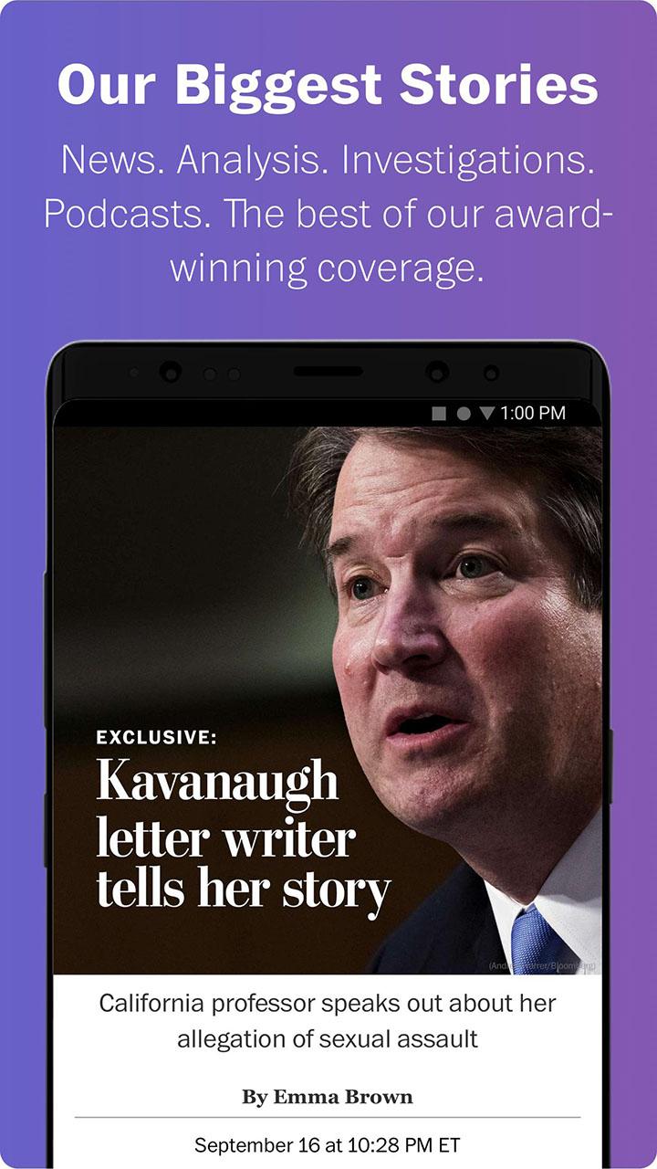 Washington Post Select screen 2