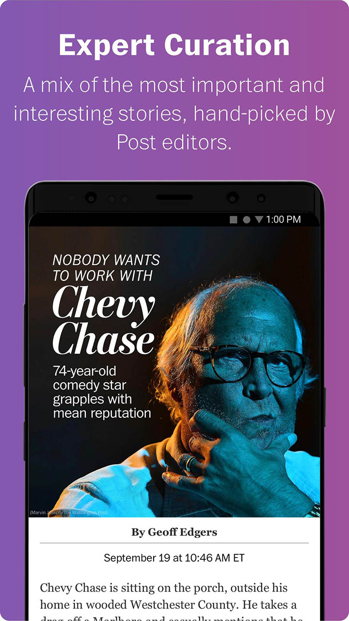 Washington Post Select screen 3