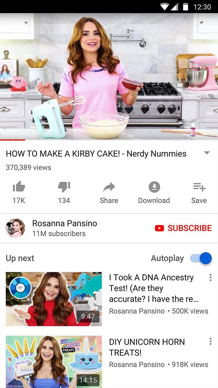 YouTube screen 4
