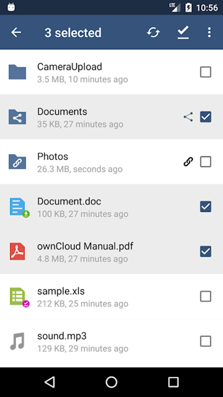 ownCloud screen 1