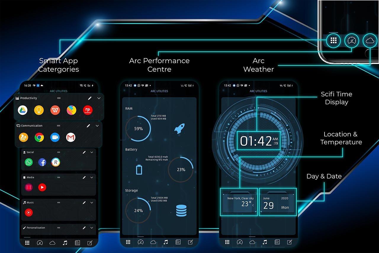 ARC Launcher screen 1