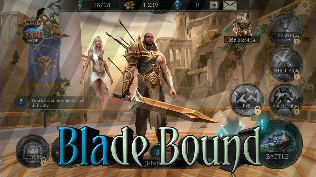 Blade bound poster