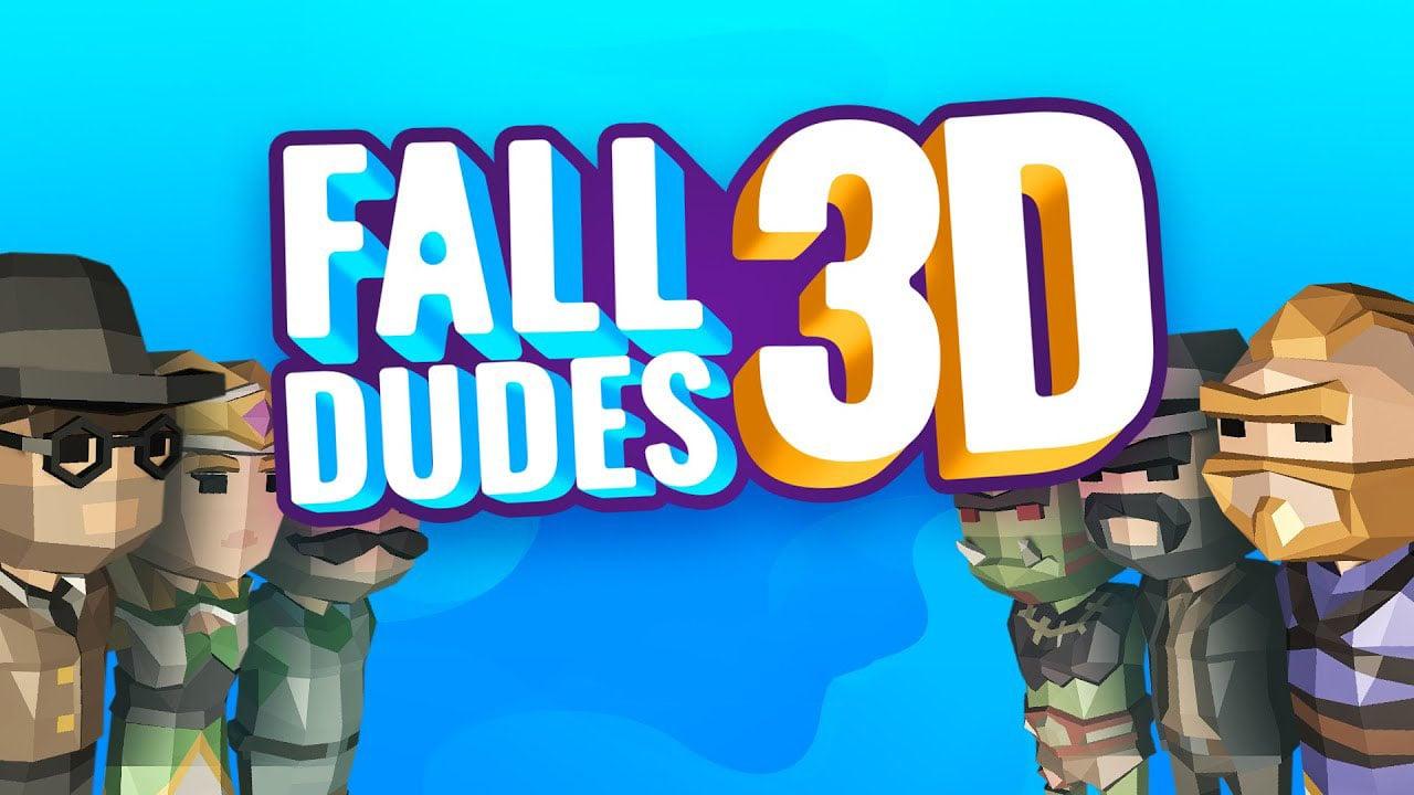 Fall Dudes 3D poster