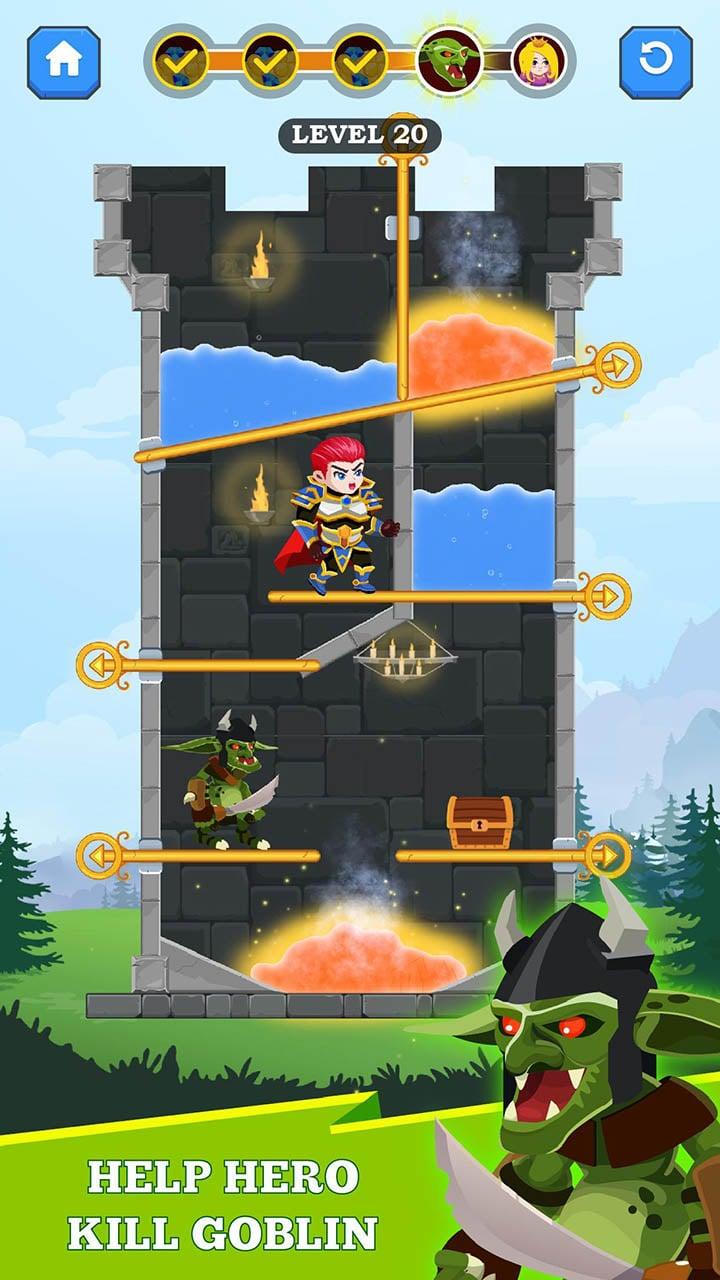 Hero Rescue screen 1