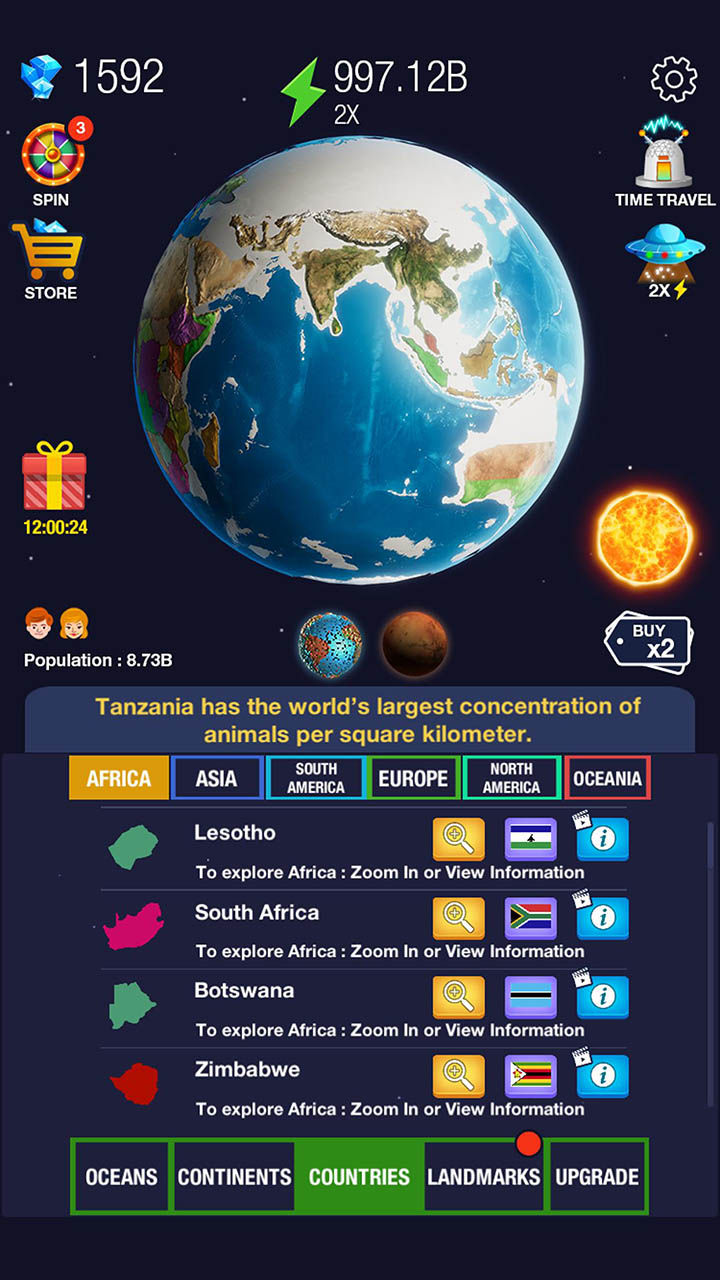 Idle World screen 1