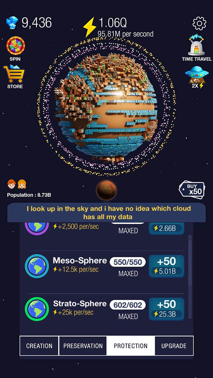 Idle World screen 4