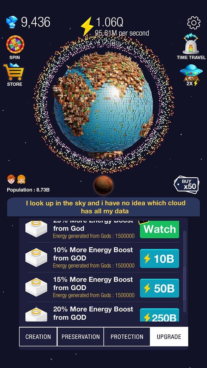Idle World screen 5