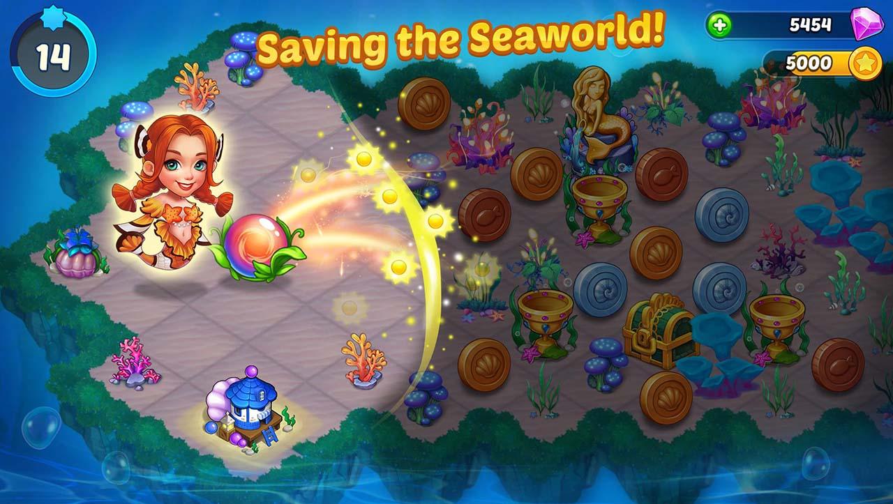 Merge Mermaids screen 1