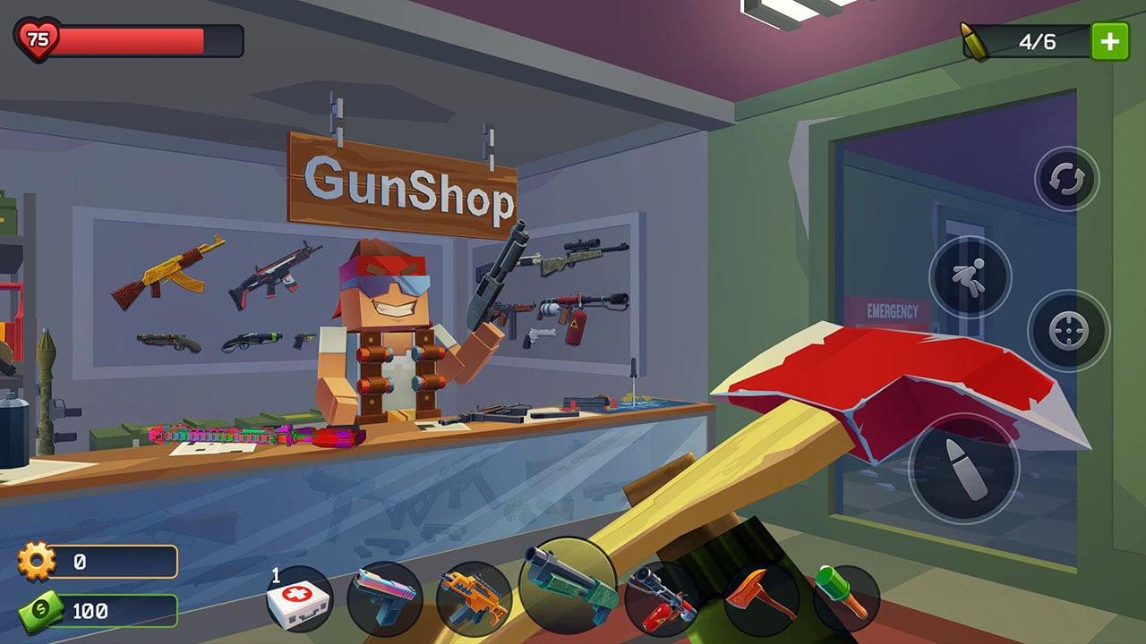 Pixel Combat Zombies Strike screen 1