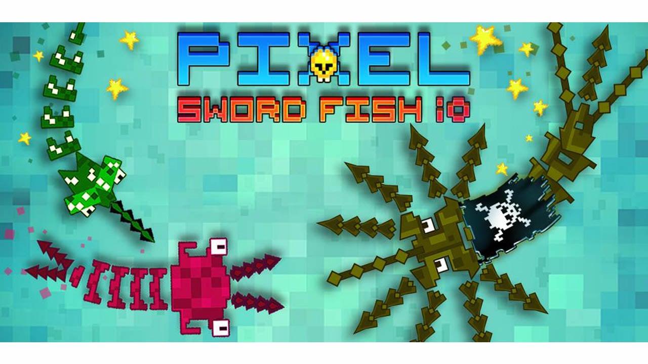 Pixel Sword Fish io poster