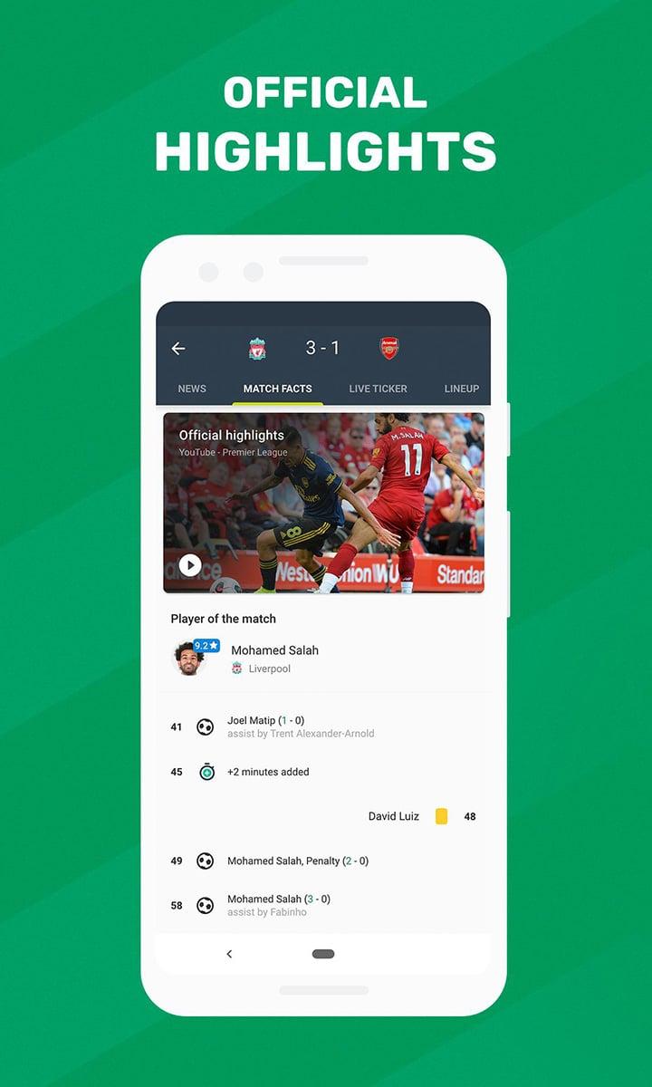 Soccer Scores FotMob screen 1